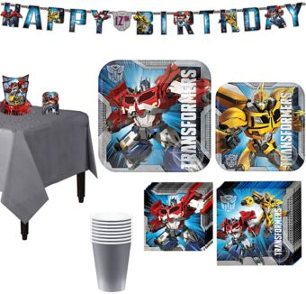 Transformers Tableware Party Kit for 8 Guests