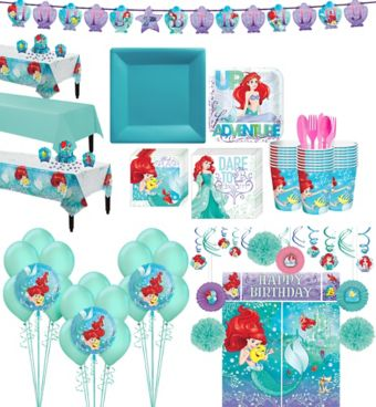 Little Mermaid Tableware Ultimate Kit for 24 Guests