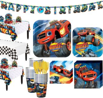 Blaze and the Monster Machines Tableware Party Kit for 24 Guests
