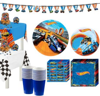 Hot Wheels Tableware Party Kit for 16 Guests