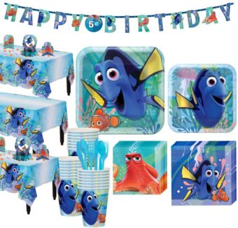 Finding Dory Tableware Party Kit for 24 Guests