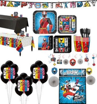Power Rangers Ninja Steel Tableware Ultimate Kit for 16 Guests