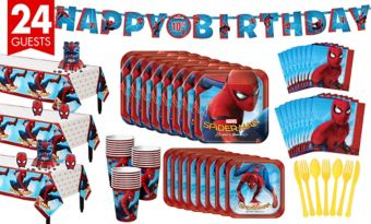 Spider-Man Homecoming Tableware Party Kit for 24 Guests