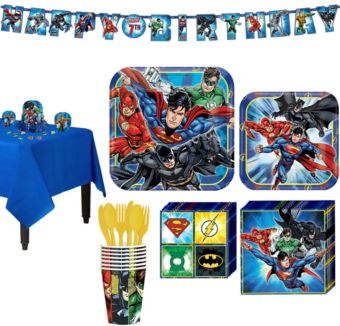 Justice League Tableware Party Kit for 8 Guests