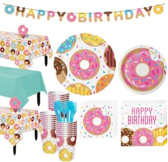Donut Tableware Party Kit for 24 Guests