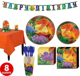 Prehistoric Dinosaurs Tableware Party Kit for 8 Guests