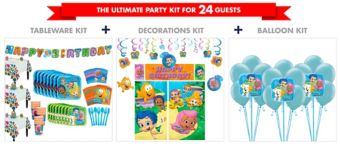 Bubble Guppies Tableware Ultimate Kit for 24 Guests