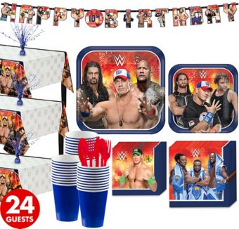 WWE Tableware Party Kit for 24 Guests