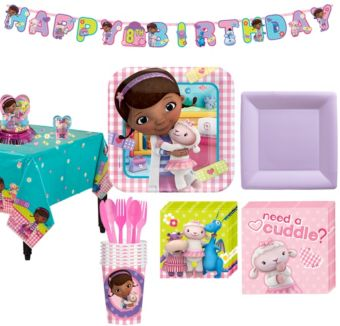 Doc McStuffins Tableware Party Kit for 8 Guests