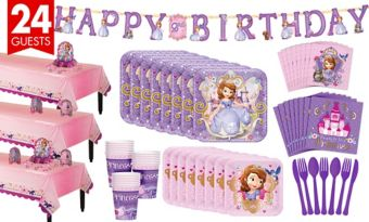 Sofia the First Tableware Party Kit for 24 Guests