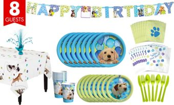 Party Pups Tableware Party Kit for 8 Guests