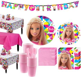 Barbie Tableware Party Kit for 24 Guests