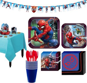 Ultimate Spider-Man Tableware Party Kit for 8 Guests