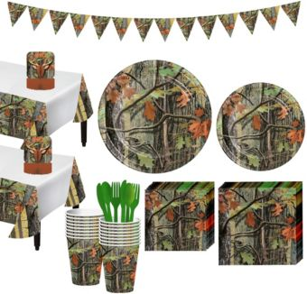 Hunting Camo Tableware Party Kit for 16 Guests