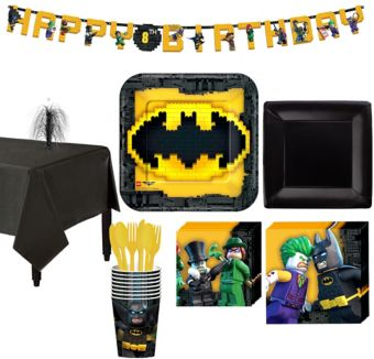Lego Batman Movie Tableware Party Kit for 8 Guests