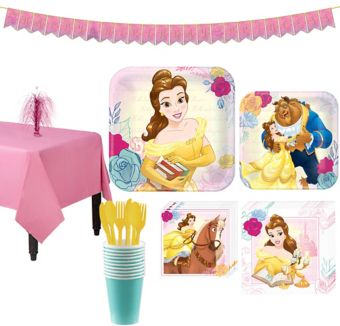 Beauty and the Beast Tableware Party Kit for 8 Guests