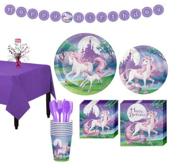 Unicorn Tableware Party Kit for 8 Guests