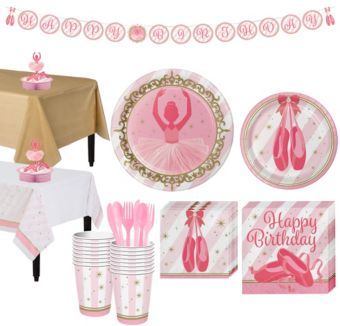 Ballerina Tableware Party Kit for 16 Guests