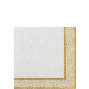 Porcelain Gold Beverage Napkins 20ct