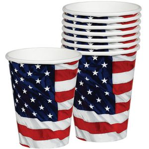 Flying Colors American Flag Cups 8ct