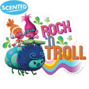 Jumbo Trolls Tangerine Scratch & Sniff Stickers 2ct
