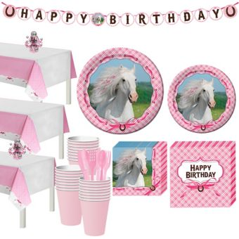 Heart My Horse Tableware Party Kit for 24 Guests