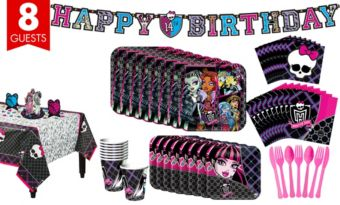 Monster High Tableware Party Kit for 8 Guests