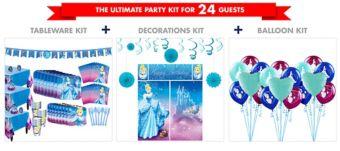 Cinderella Tableware Ultimate Kit for 24 Guests