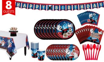Magic Party Tableware Party Kit for 8 Guests