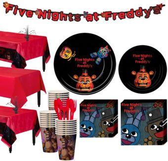 Five Nights at Freddy's Tableware Party Kit for 24 Guests