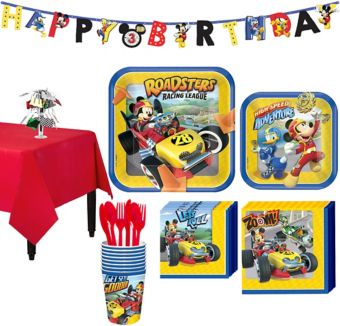 Mickey Mouse Roadster Tableware Party Kit for 8 Guests
