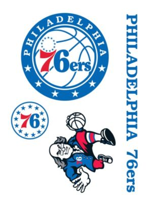 Philadelphia 76ers Decals 5ct
