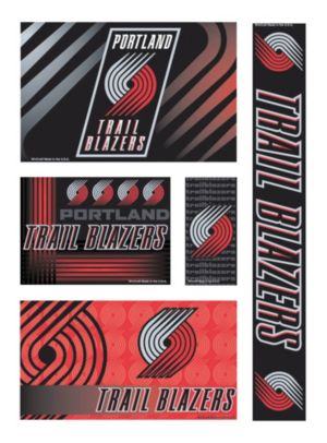 Portland Trailblazers Decals 5ct