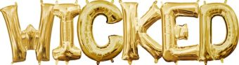 Air-Filled Gold Wicked Letter Balloon Kit