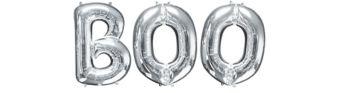 Giant Silver Boo Letter Balloon Kit