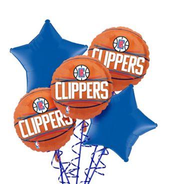 LA Clippers Balloon Bouquet 5pc
