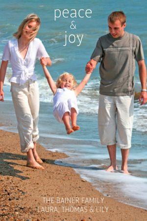 Custom Peace & Joy Photo Cards