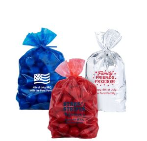 Personalized Small 4th of July Plastic Treat Bags