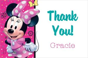 Custom Minnie's Happy Helpers Thank You Note