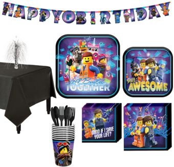 The Lego Ninjago Movie Tableware Kit for 8 Guests