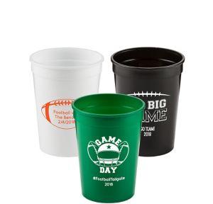 Personalized Football Plastic Stadium Cups 12oz