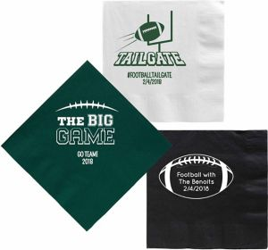 Personalized Football Dinner Napkins