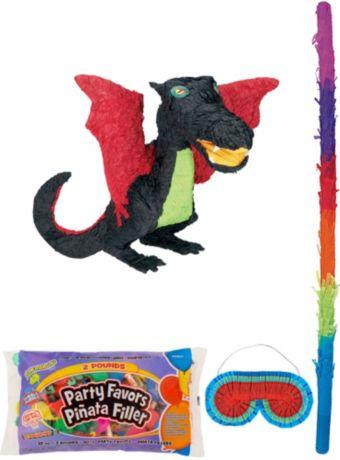 Black Dragon Pinata Kit with Candy & Favors