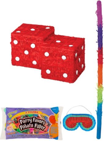 Dice Pinata Kit with Candy & Favors