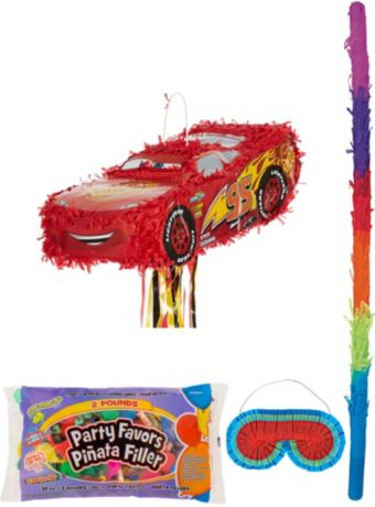 Lightning McQueen Car Pinata Kit with Candy & Favors - Cars 3