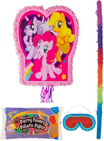 Pink My Little Pony Pinata Kit with Candy & Favors