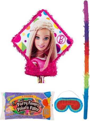 Sparkle Barbie Pinata Kit with Candy & Favors