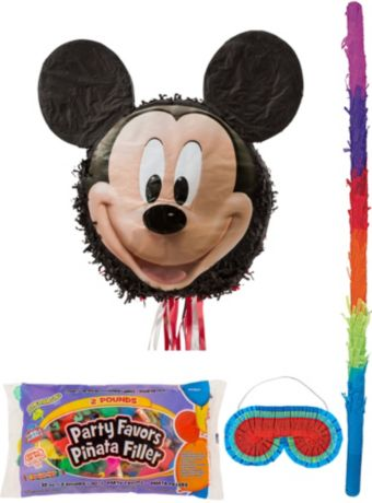 Smiling Mickey Mouse Pinata Kit with Candy & Favors