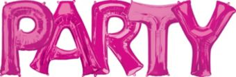 Giant Pink Party Letter Balloon Kit 6pc