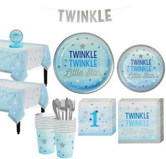 Blue Twinkle Twinkle 16CT Tableware Kit